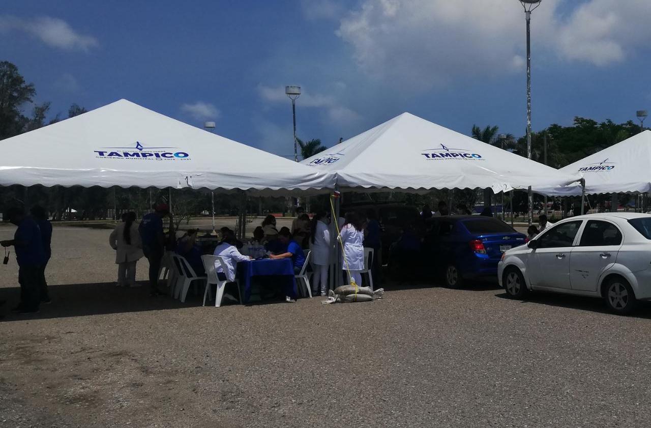 centro de vacunación en Tampico