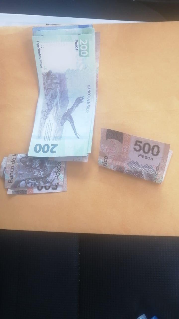 Detienen a hombre con billetes falsos en Tampico