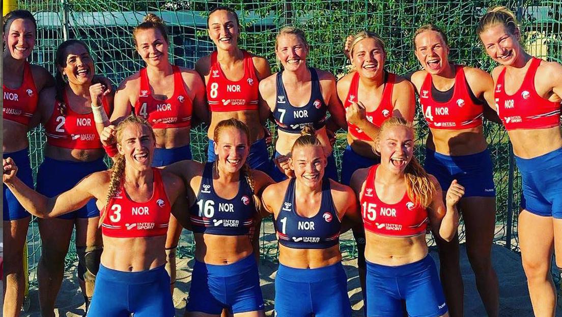 Noruega femenil de balonmano se negó a utilizar bikini