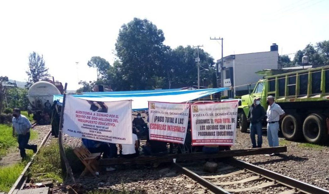 bloqueo a líneas de ferrocarril Michoacán