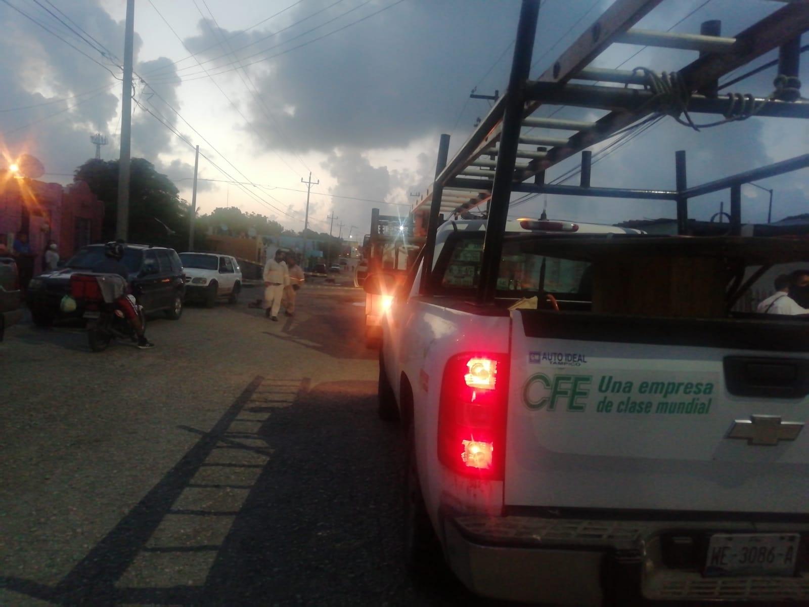 En Altamira retuvieron a dos camionetas de la CFE