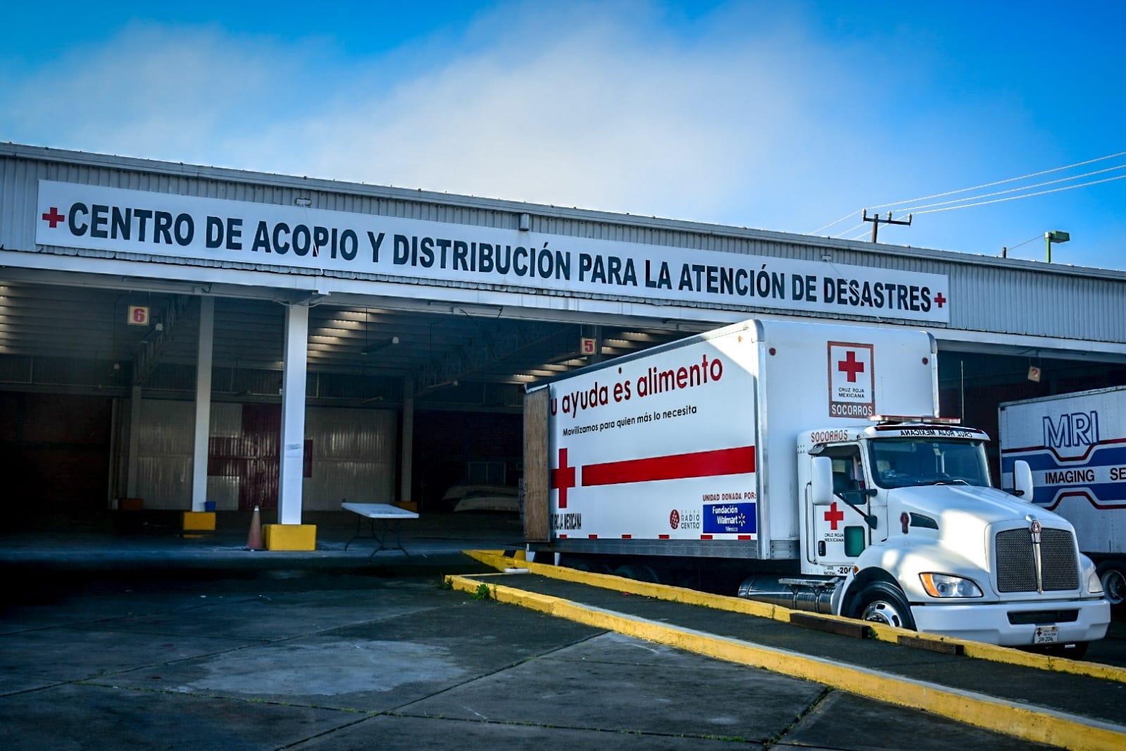 La Cruz Roja Mexicana envió cerca de 13 toneladas de ayuda humanitaria a Veracruz. Se destinarán a afectados en Poza Rica y Tecolutla.