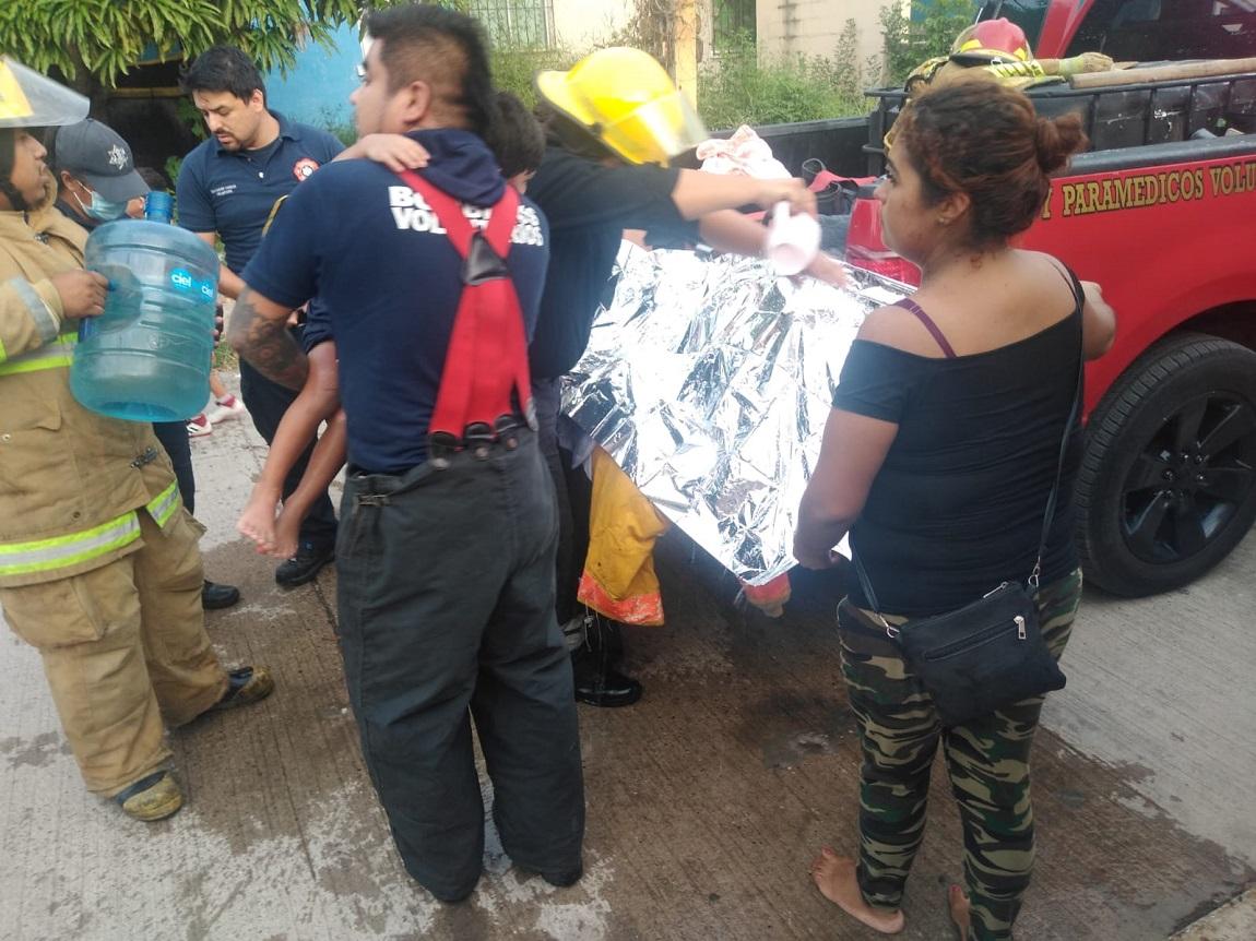 fuga de gas, explosión e incendio en Altamira