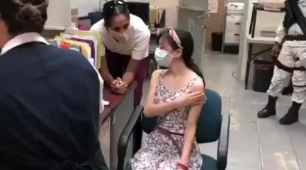 amparo niña logra vacunarse contra el Covid