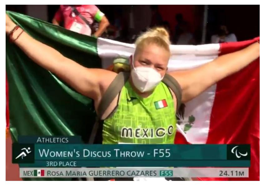 Rosa María Guerrero medalla de bronce