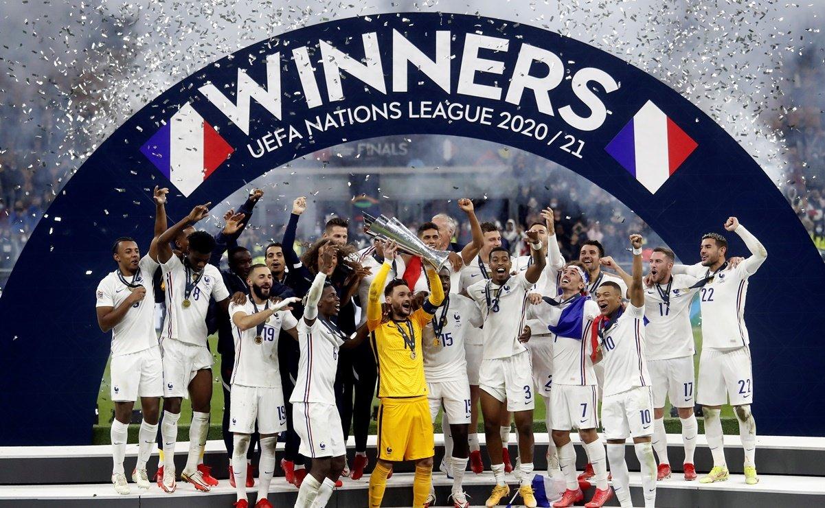 Francia derrotó 2-1 a España