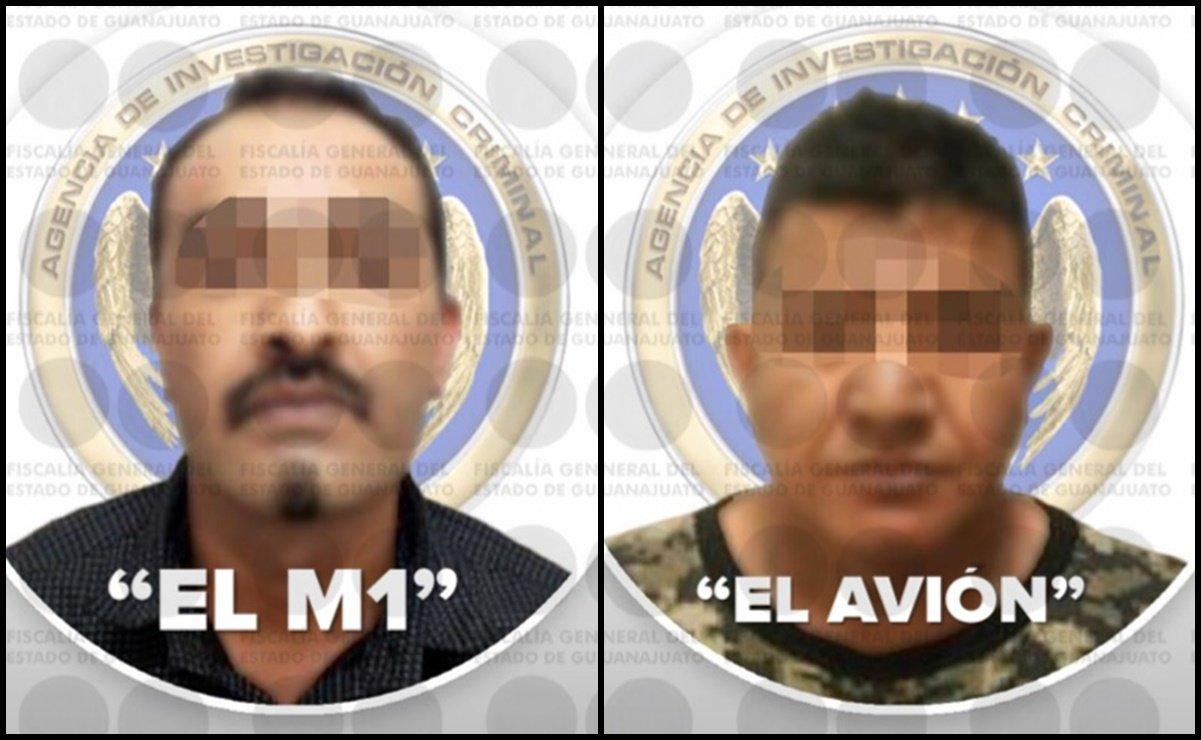 """En un operativo coordinado, policías y militares capturan a """"El M1"""" en Celaya, Guanajuato al igual que a Carlos """"El Avión"""" de 29 años."""