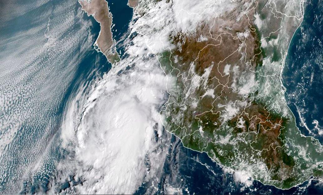 Esta mañana el huracán 'Pamela'