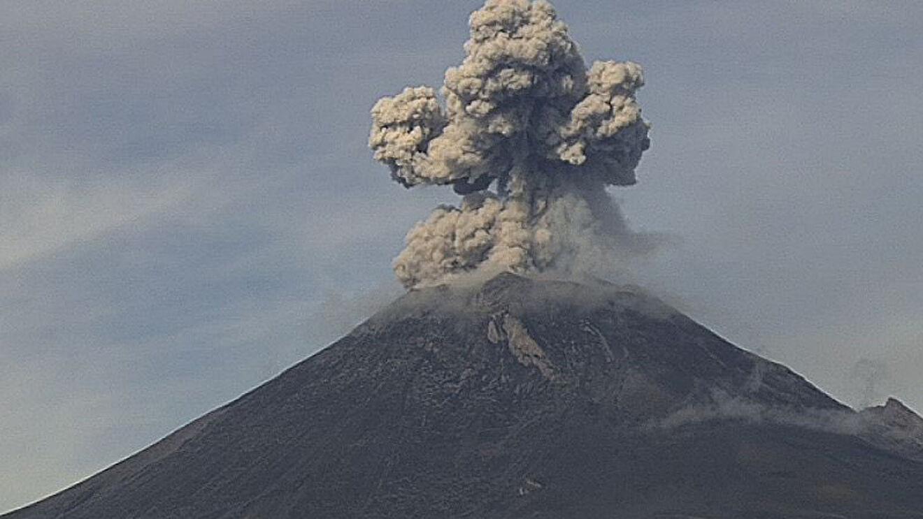 ceniza volcánica del Popocatépetl